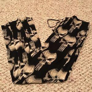 Marvel the punisher men's pajama pants size medium